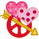 Heart Peace Sign Arrow