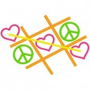 Heart Peace Tic Tac Toe