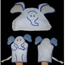 Elephant Face Towel and Mitt Set