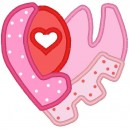 Applique Love Heart