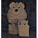 Bear Towel and Mitt Set