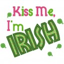 Kiss Me I'm Irish Applique