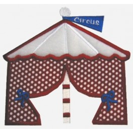 Circus Tent Applique Mega Hoop Design