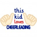 This Kid Loves Cheerleading