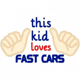 This Kid Loves Fast Cars