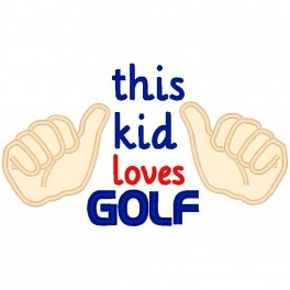 This Kid Loves Golf