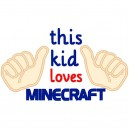 This Kid Loves Minecraft