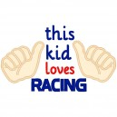 This Kid Loves Racing