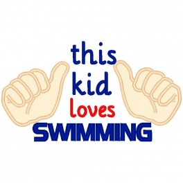 This Kid Loves Swimming