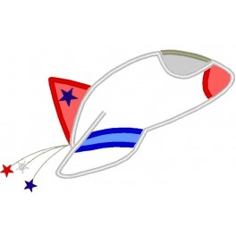 Red White Blue Rocket