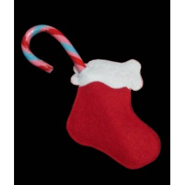 In the Hoop Stocking Candy Cane Holder