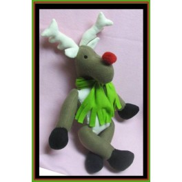 "In the Hoop Stuffed Reindeer - ""Randolf"""