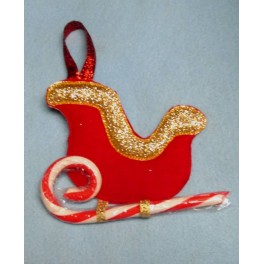 In the Hoop Sleigh Candy Cane Holder