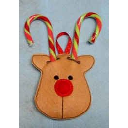 In the Hoop Reindeer Candy Cane Holder
