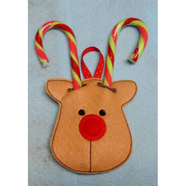 in the hoop reindeer candy cane holder give your candy canes some