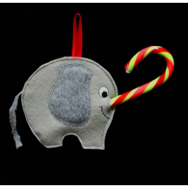 ... in the hoop elephant candy cane holder give your candy canes some