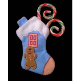 In the Hoop Gingerbread House Stocking