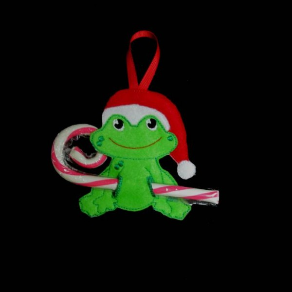 ... friend in the hoop frog candy cane holder give your candy canes some