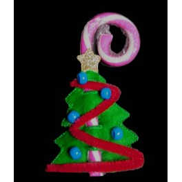 In the Hoop Tree Candy Cane Holder