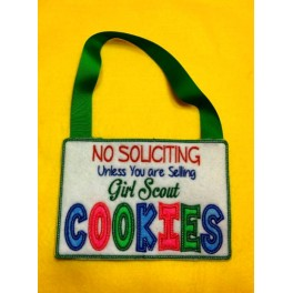 In the Hoop Sign  No Soliciting  Unless you are Selling Girl Scout Cookies