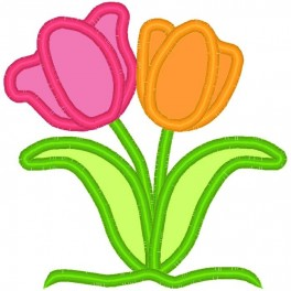 Applique Spring Tulips