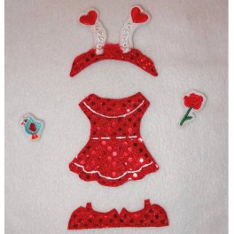 In the Hoop Flat Doll  Valentine's Set - Girl