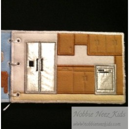 ITH  Flat Doll House - Add on Pages - Kitchen & Boy Bedroom