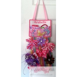 Hair Bow Holder with Pocket Storage