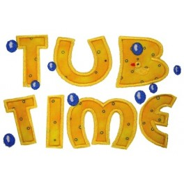 Mega Hoop Tub Time Applique Design