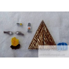 ITH  Flat Doll Scout Accessories