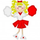 NNKids Applique Red and White Cheerleader
