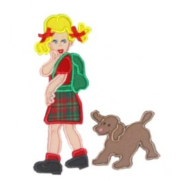 Mega Hoop Backpack Girl with Puppy