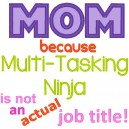 Mom Multi Tasking Ninja