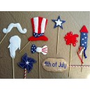 4th of July Photo Props