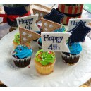 4th of July Cupcake Flags
