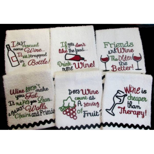 Wine Kitchen Towel Sayings Nobbieneezkids
