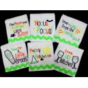 Halloween  Kitchen Towel Saying Set