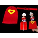 Super Hero Lollipop Cape and Mask