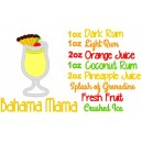 Bahama Mama Recipe Design