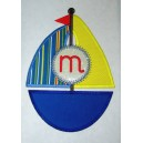 Monogram Sailboat Design