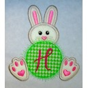 Monogram Bunny with Feet Design