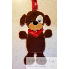 In Hoop Puppy in Bandana Door Hanger