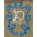 Fanciful Monogram Frame