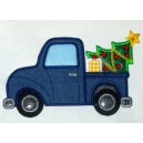 Applique Christmas Truck