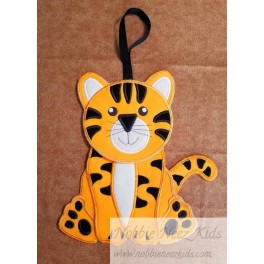 In Hoop Tiger Door Hanger