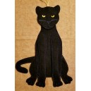 In Hoop Panther Door Hanger