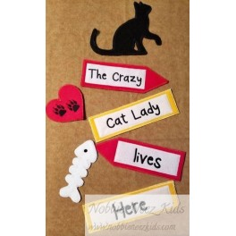 In Hoop Crazy Cat Lady Yard Sign