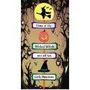 In Hoop Wicked Witch and Monsters Yard Sign