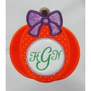 Monogram Pumpkin with Bow
