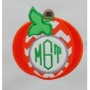Monogram Pumpkin with Leaf Design